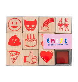 Yellow Owl Workshop Emojis Rubber Stamp Kit with Neon Ink Pad