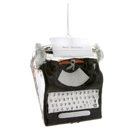 Holiday Greetings Typewriter Ornament