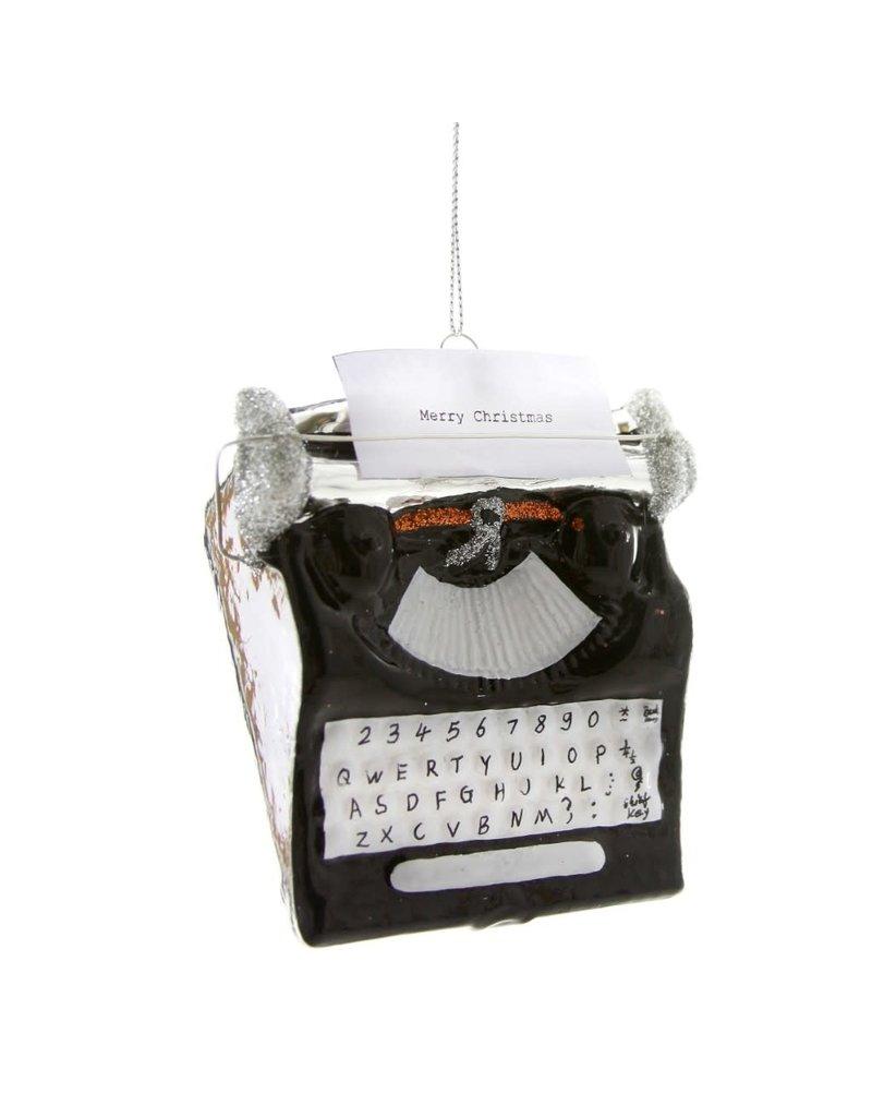 Holiday Greetings Typewriter Ornament