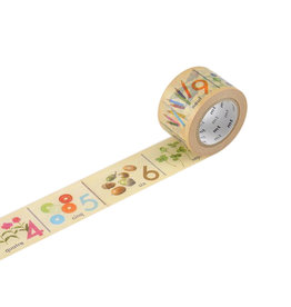 Number French Washi Tape