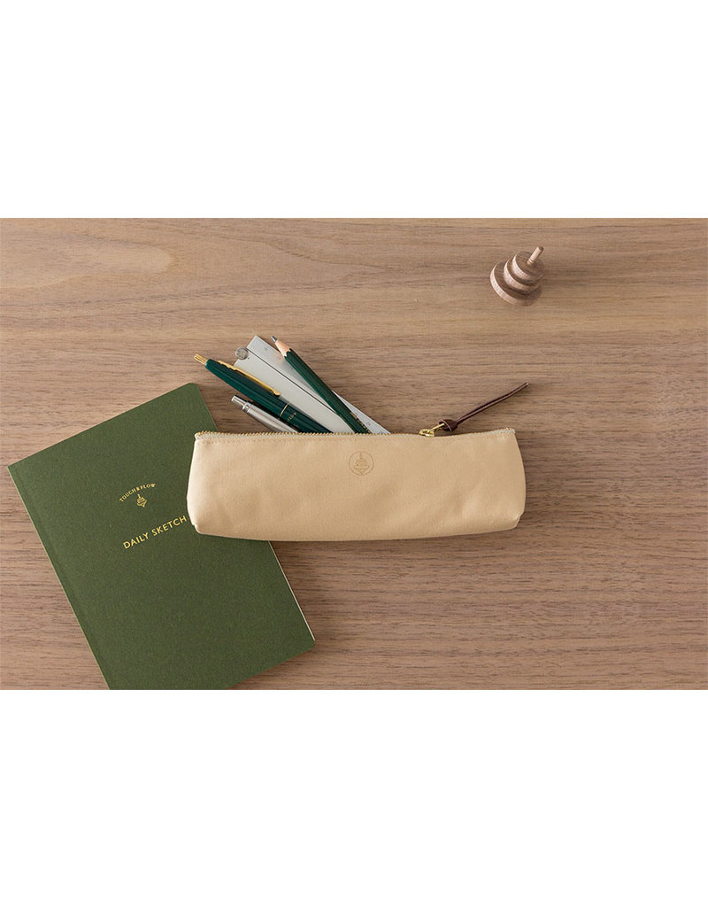 touch & flow Cotton pencil case - beige