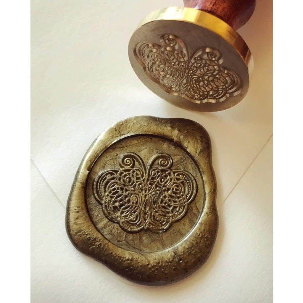 heypenman Butterfly Flourish Wax Seal Stamp