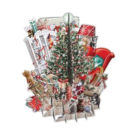 Notes & Queries 3D Tree Cats Pop-Up Card