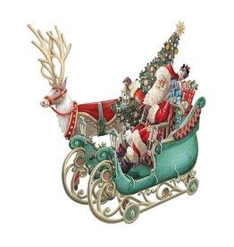 Notes & Queries 3D Santa Sleigh Pop-Up Card