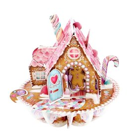 Notes & Queries 3D Gingerbread Santoro Pop-Up Card