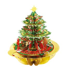 Notes & Queries 3D Christmas Tree Santoro Pop-Up Card