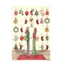 Notes & Queries Santa Couple Advent Calendar Christmas Card
