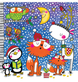 Notes & Queries Caroling Animals Jigsaw Puzzle Card