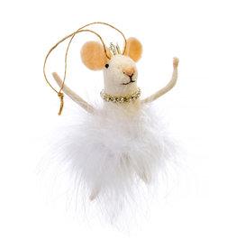 Indaba White Swan Lake Mouse Ornament