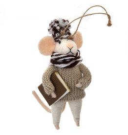 Indaba Studious Stuart Mouse Ornament