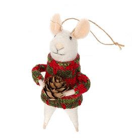 Indaba Sitka Solomon Mouse Ornament