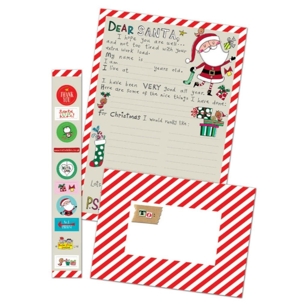 Notes & Queries Letter to Santa with Stickers