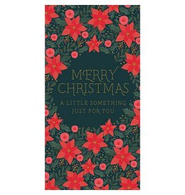 Notes & Queries Just For You Poinsettia Money Wallet Card