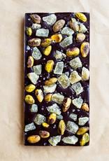 Ginger pistachio chocolate bar
