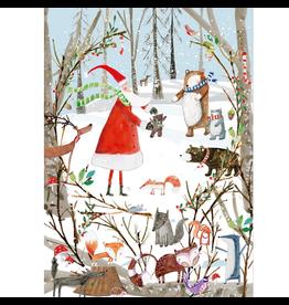 Notes & Queries Woodland Wonderland Advent Calendar Card