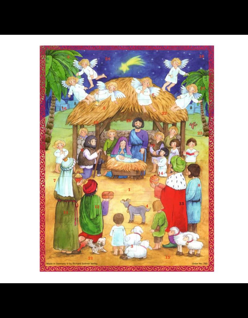 Nativity Advent Calendar Card