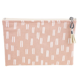 Canvas Small Pouch - Pink Dashes