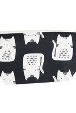 Small Makeup Bag - Black Cat