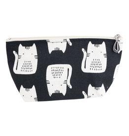 Small Makeup Bag - Black Cat