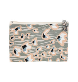 Cotton Coin Purse - Peach Poppy