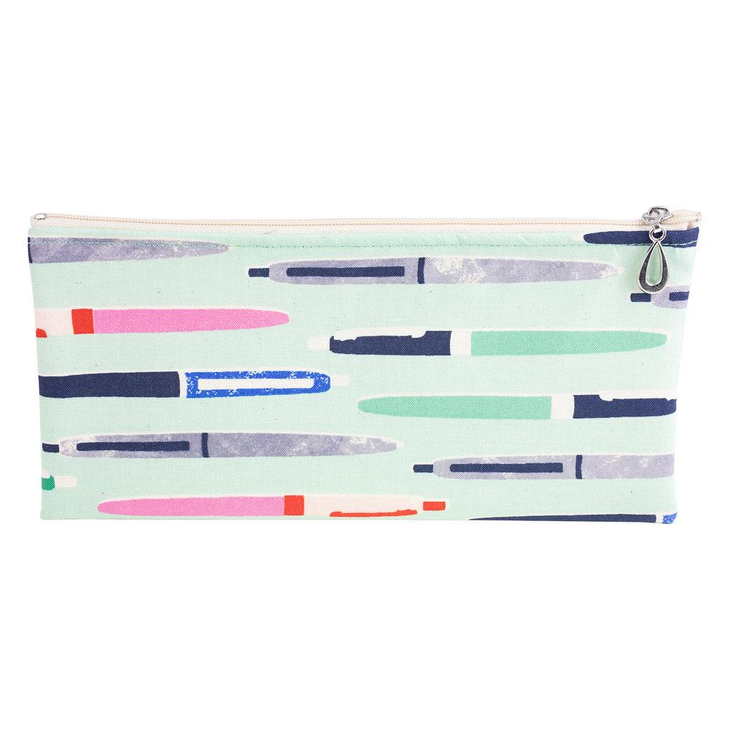 Cotton Pencil Bag - Aqua