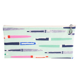 Cotton Pencil Bag - Aqua