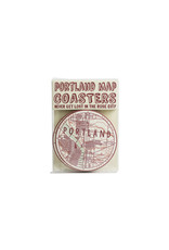 Hat + Wig + Glove Portland Map Coasters