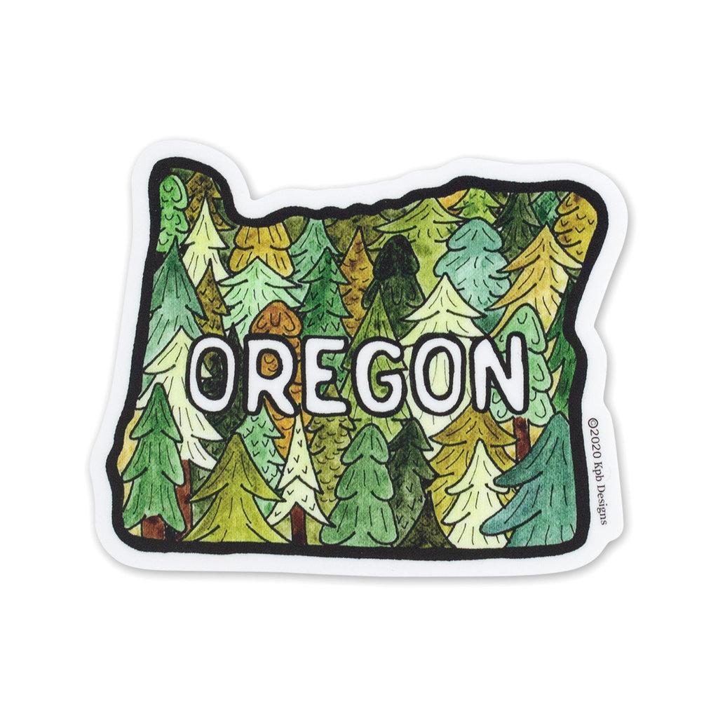 KPB Designs Oregon Trees Sticker