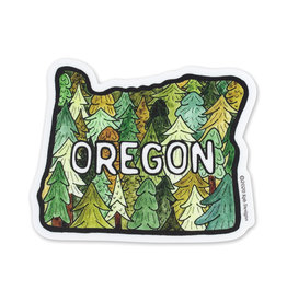 KPB Designs Oregon Trees Sticker
