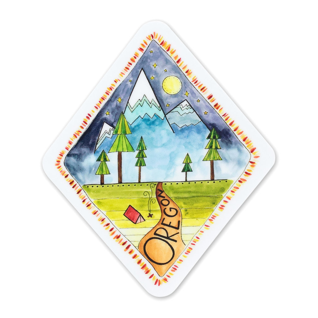 KPB Designs Oregon Diamond Sticker
