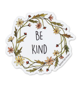 KPB Designs Be Kind Wreath Sticker