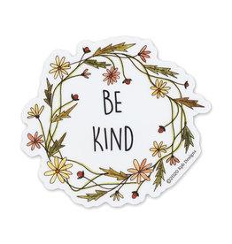 KPB Designs Be Kind Wreath Sticker