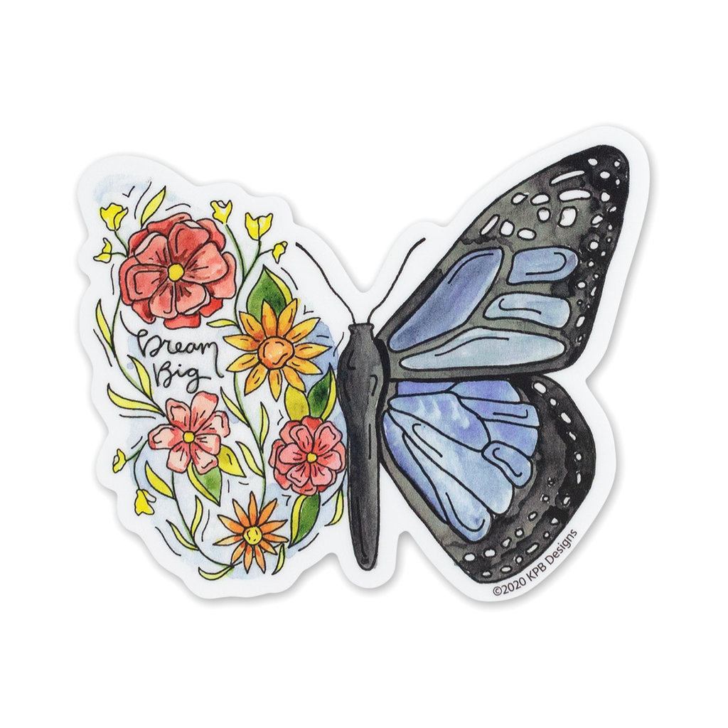 KPB Designs Flower Butterfly Sticker