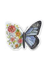 KPB Designs Flower Butterfly
