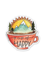 KPB Designs Cup of Happy Sticker