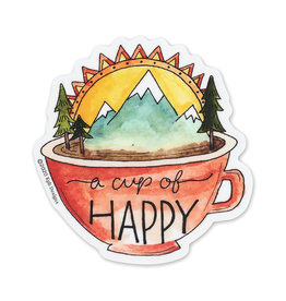 KPB Designs Cup of Happy Sticker