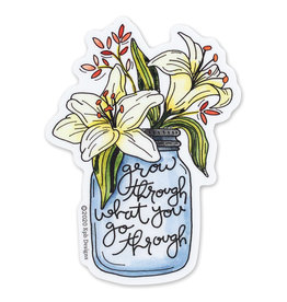 KPB Designs Lillies Grow Through Sticker
