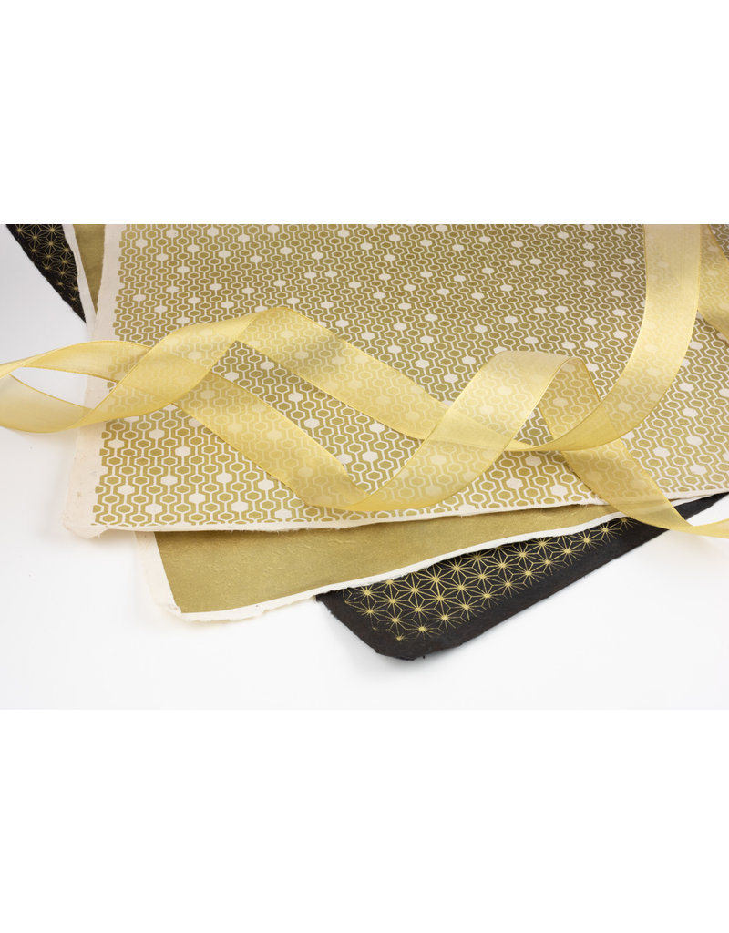 Oblation Papers & Press Color Stories: Gold Wrapping Paper Trio