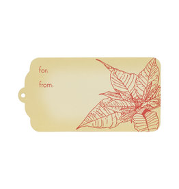 Oblation Papers & Press Poinsettia Gift Tags Set of 10