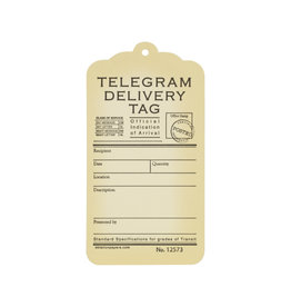Oblation Papers & Press Telegram Gift Tags Set of 10