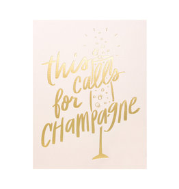 Dahlia Press This Calls for Champagne - Letterpress Card