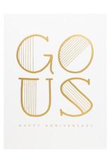 Dahlia Press Go Us Anniversary - Letterpress Card