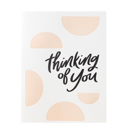 Dahlia Press Thinking Of You - Letterpress Card