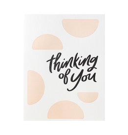 Dahlia Press Thinking Of You - Letterpress Card