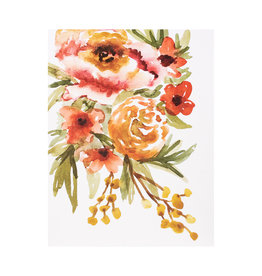 Maija Rebecca Hand Drawn Creating Warmth Floral Watercolor