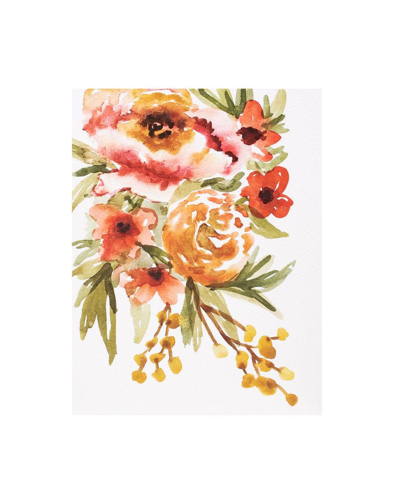 Maija Rebecca Hand Drawn Creating Warmth Floral Watercolor