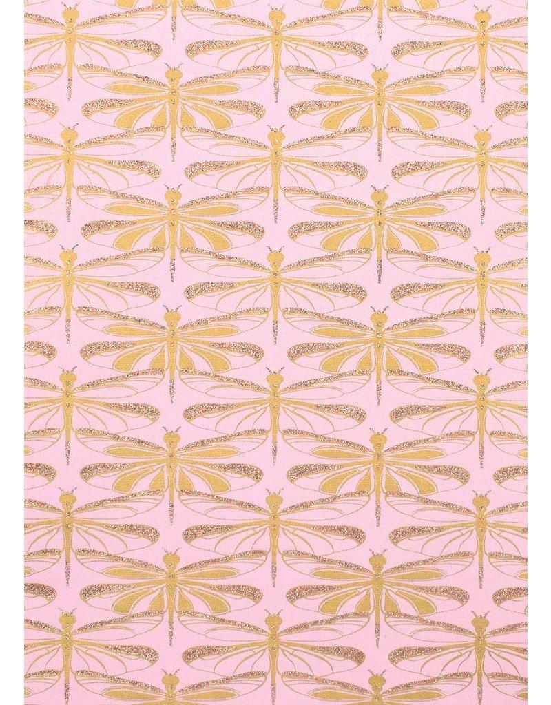 Vivid Dragonfly Pink Wrap - 2 XL Sheets