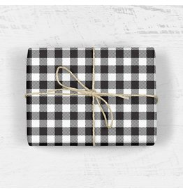 Buffalo Plaid Gift Wrap - Roll of 3 Sheets