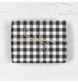 Buffalo Plaid Gift Wrap - Roll of 3 Sheets