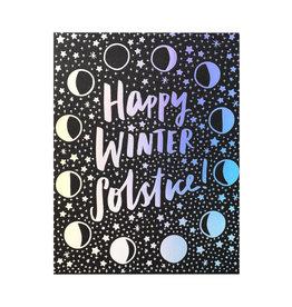 Hello! Lucky Winter Solstice Letterpress Card